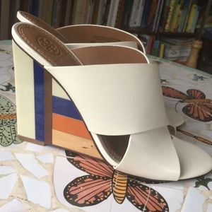 Tory Burch NWOT leather slideins shoes